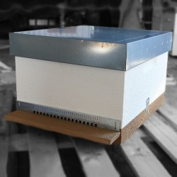 Langstroth hive body with frames without wax